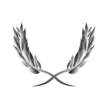 Laurel wreath - a symbol of the winner icon vector