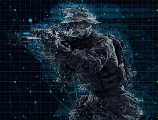 soldier aiming laseer sight optics glitch