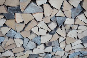 Poster de jardin Texture de bois de chauffage pile of wood