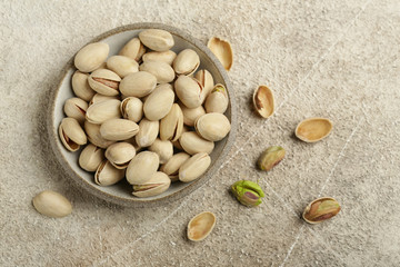 natural organic pistachios nuts on the table