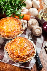 Fresh beef stew pie