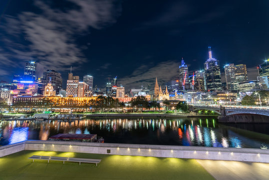 night view of city of Melbourne