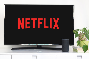 BARCELONA, January 8: Smart TV with the payperview NETFLIX service with the logo in it, on January 8, 2020 in Barcelona