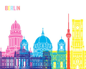 Wall Mural - Berlin  skyline pop