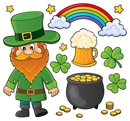 Photo sur Aluminium Enfants St Patricks Day theme set 1