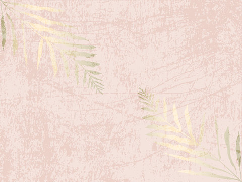 Social media banner template for fashion or beauty industry advertising new arrivals collection or seasonal sales promotion. trendy BLUSH PINK GOLD BACKGROUND