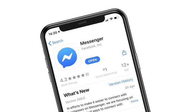 Messenger application displayed in AppStore on iPhone 11 Pro