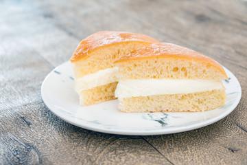 Fototapete - French dessert butter brioche Tarte tropezienne