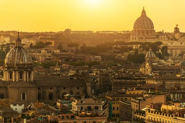 Autocollant pour porte Fleur City of Rome and Vatican