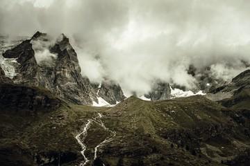 Wall Mural - Dramatic Alpine Landscape