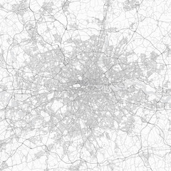London city map. Detailed map of London (United Kingdom). Transport system of the city. Includes properly grouped map features (water objects, railroads, roads etc).