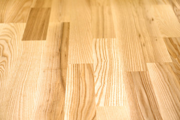 Obraz Wooden parquet background. Parquet boards in home. - fototapety do salonu