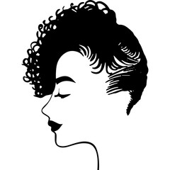 Afro Woman  with crown and side Puffs , African American girl , Afro lady , natural hair, cut files - cricut, black history