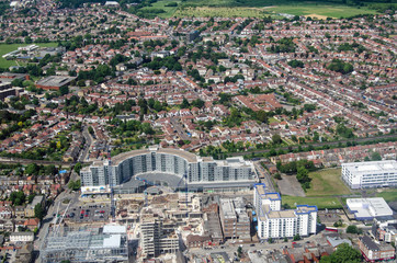 Blenheim Centre Shopping Centre, Hounslow, Aerial view