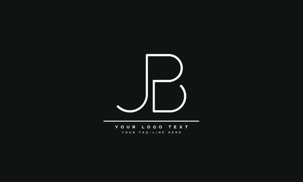 AJB ,BJ ,J ,B  Letter Logo Design with Creative Modern Trendy Typography