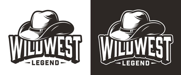 Monochrome wild west label Wall mural