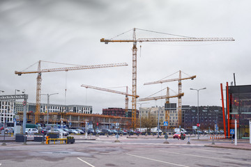 Fototapete - European construction in Tallinn