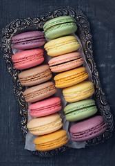 Colorful macarons