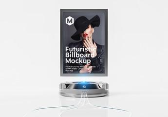 Futuristic Billboard Mockup