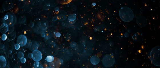abstract bokeh background, colorful particles