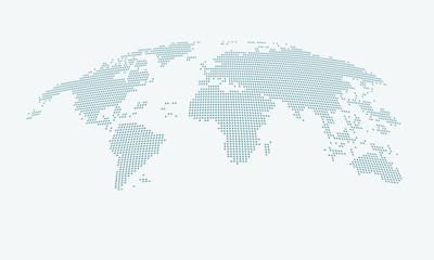 Fototapeta map of the world obraz