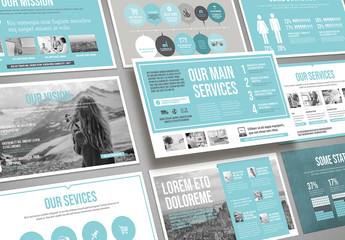 Pale Blue and Light Gray Presentation Layout