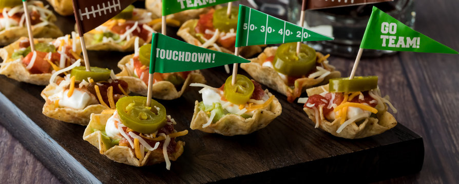 Appetizers for game day celebration.