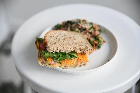 vegetarian sweet potato sandwich