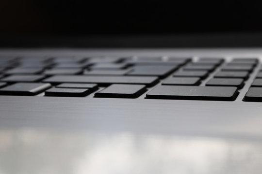 Laptop keyboard closeup. Computer keyboard.