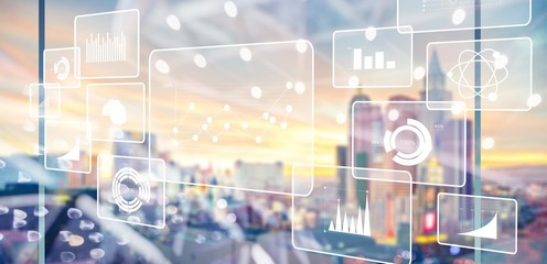 Analytics data big business intelligence background