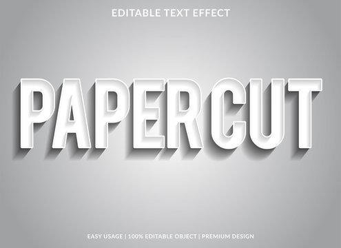 paper cut text effect template with silver type style and elengant concept use for exclusive sign and logotype