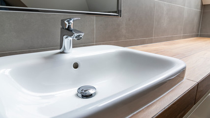 sink and faucet in modern bathroom