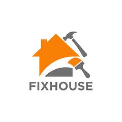 House fix logo design template
