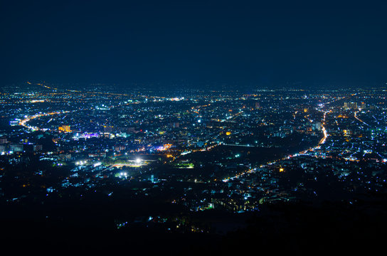 night view of city light