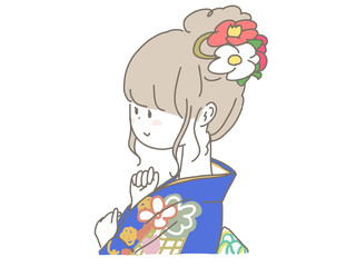 Deurstickers Piraten Kimono girl