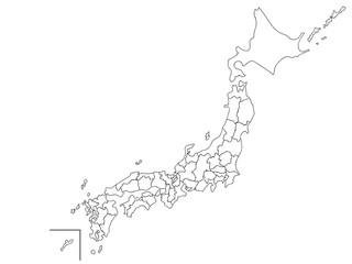 日本地図 白地図 塗り絵