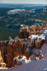 Garden Poster Brown Wide angle view of Bryce Canyon National Park at Sunrise, Colorado, USA