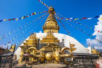 Deurstickers Aap Swayambhunath, monkey temple in kathmandu, nepal
