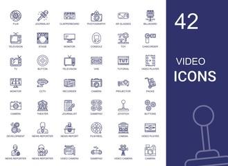 video icons set