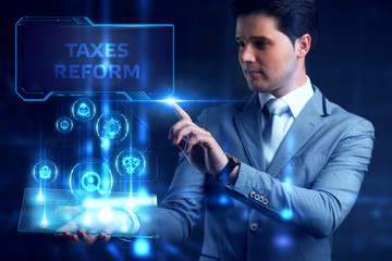 Business, Technology, Internet and network concept. Marketing content planning advertising strategy concept. taxes reform