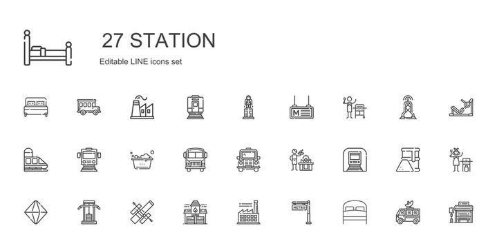station icons set