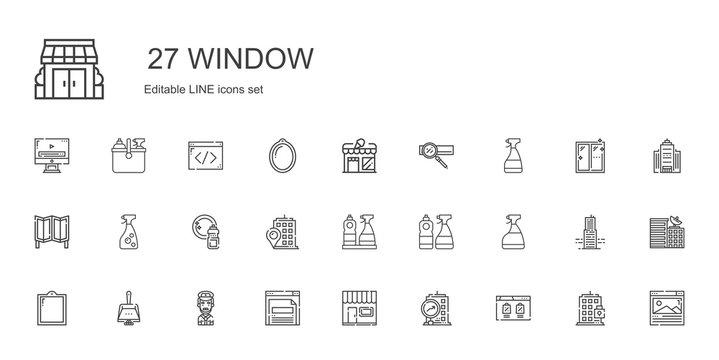 window icons set