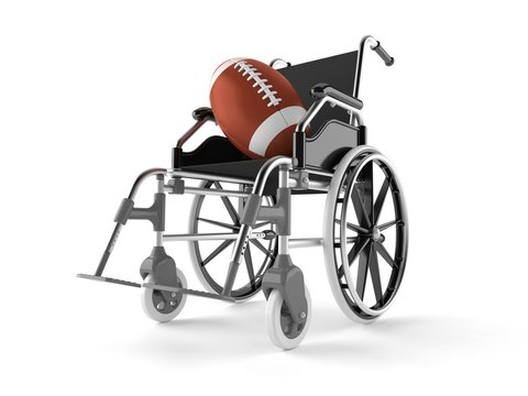 Rugby ball with wheelchair