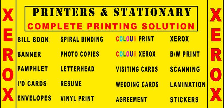 Banner Design for xerox shop