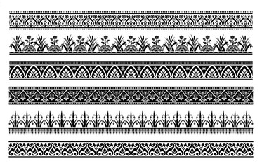 Vintage baroque and victorian borders