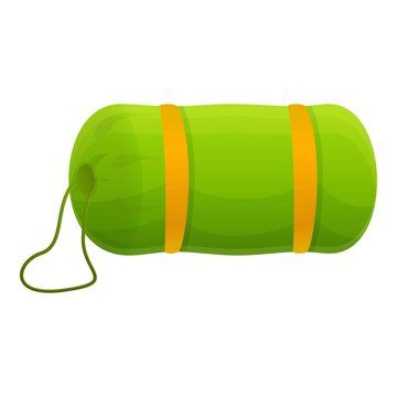 Sleeping bag gear icon. Cartoon of sleeping bag gear vector icon for web design isolated on white background