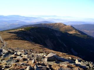 Piękny widok z Babiej Góry