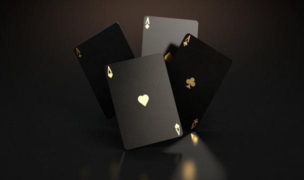Black Casino Card Aces