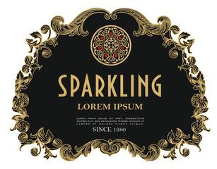wine label sparkling gold vintage prosecco amarone