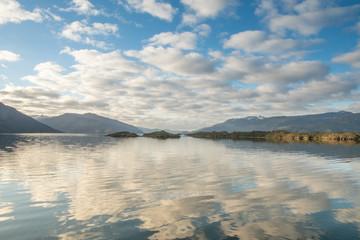 Wolkenformation in den Kanälen von Patgonien  in Chile